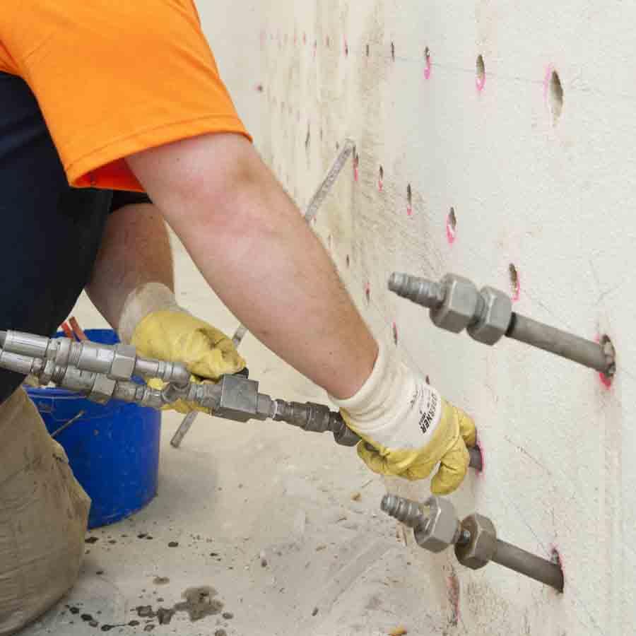 Neustadt: Kellersanierung im Rasterinjektionsverfahren